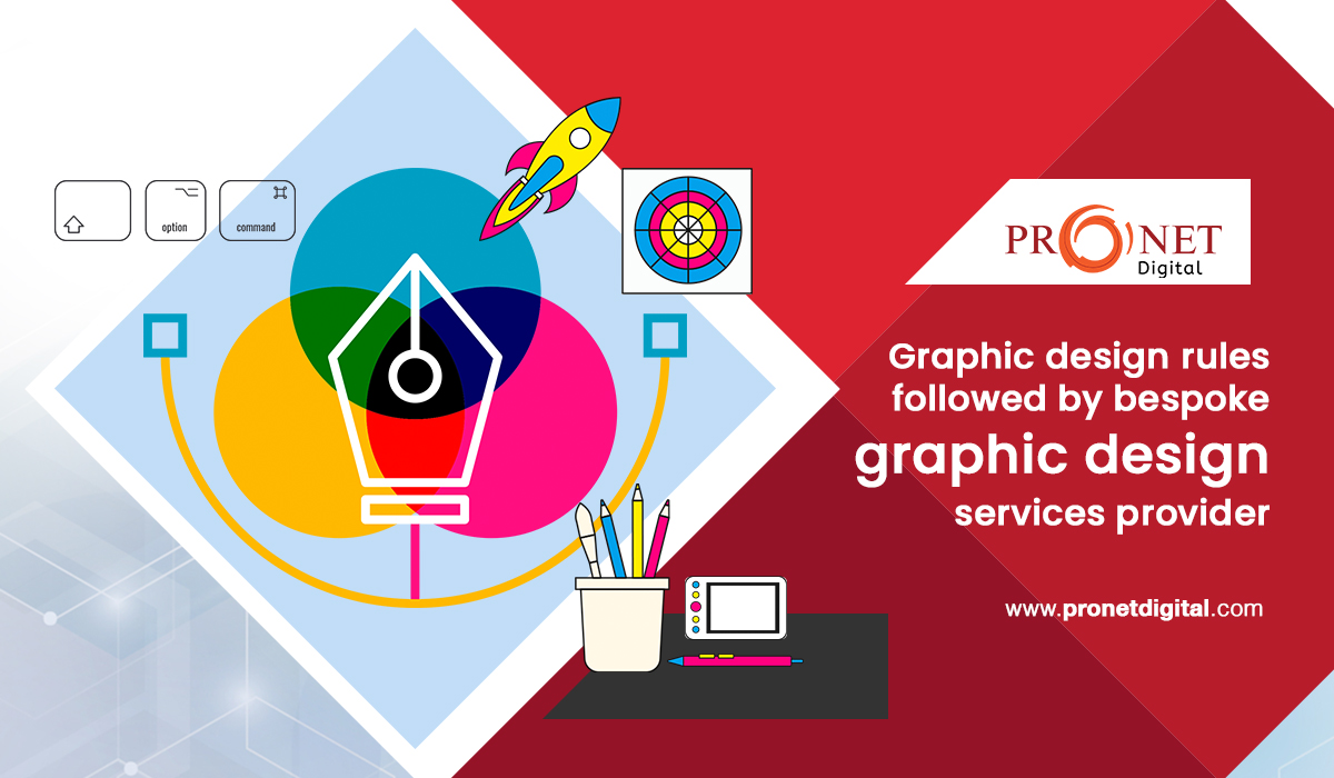 Graphic design rules followed by bespoke graphic design services provider